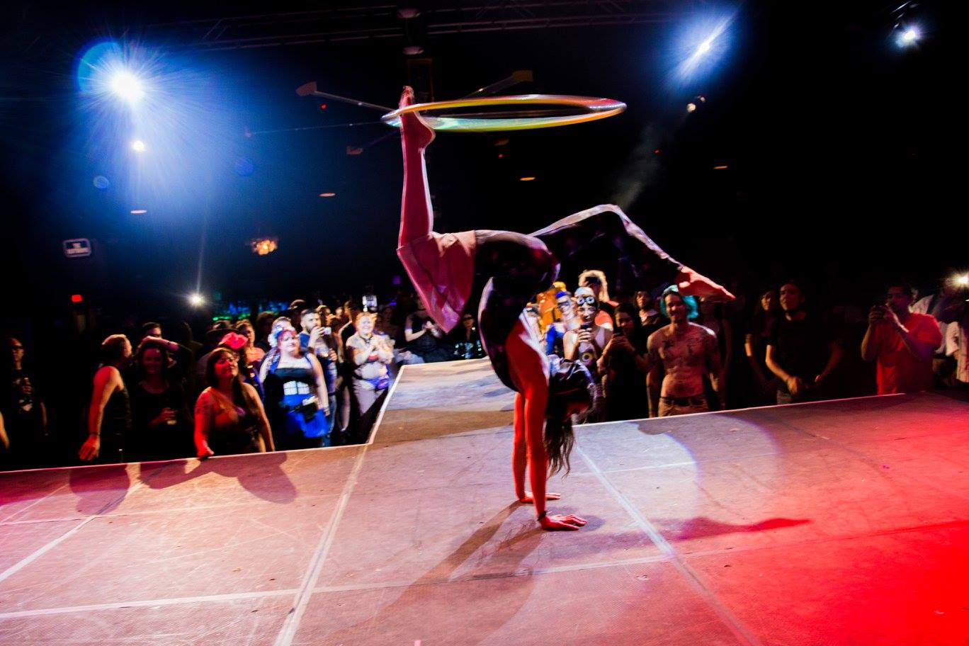 Acrobatic Hoop Dance at the Cosplay Ball 2016 in Phoenix. Presented by The Festival Fashion Show and Scorpius Dance.