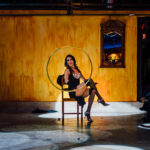 Hoop Burlesque act with Spellbound Productions in downtown Phoenix, AZ.
