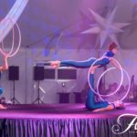 Paulina Milligan, Mary Ad-Art and Jessica Packard hooping with Showstoppers Interactive Entertainment.