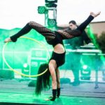 Acro hoop performance at Rebirth Festival 2016 by Desert Canvas.
