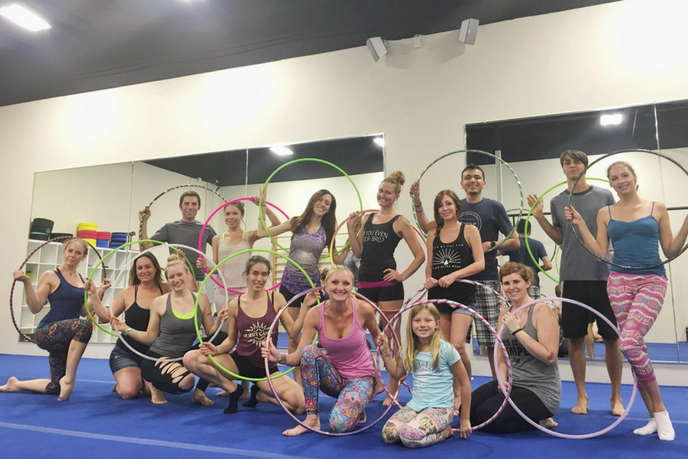 Hula Hooping workshop with Paulina Milligan in Tempe, Arizona at AcroBody Studio