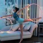 BTS of Paulina Milligan modeling with LED hula hoop after performance at The Falls Event center in Gilbert, AZ.